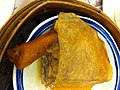 HK Sheung Wan 寶湖金宴 Treasure Lake Seafood Restaurant streamed food 荔芋鴨腳扎 Duck feet n Tofu skin Jan-2013.JPG