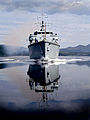 HMS Brocklesby sails from HMNB Clyde for the final time. MOD 45146492.jpg