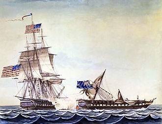 William Bainbridge - USS Constitution engaging HMS Java