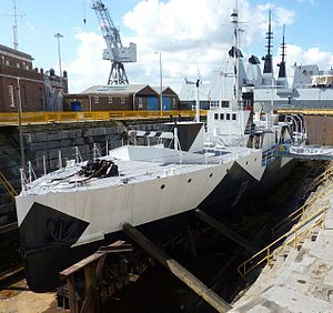 HMS Monitor M33 - 4 April 2010 at Portsmouth Naval Dockyard.JPG