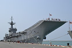 HTMS Chakri Naruebet, now being a museum on Marine in Sattahip