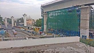 Hyderabad Metro - Image: HYD Metro near SC