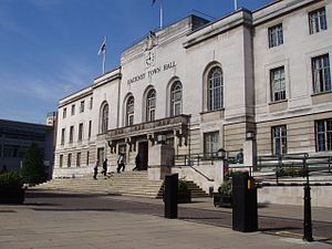 Hackney Central - Image: Hackneytownhall 2