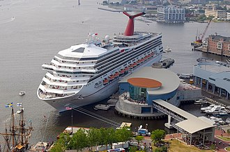 Half Moone Cruise & Celebration Center in Norfolk, Virginia. Half Moone Cruise & Celebration Center, Norfolk, VA.jpg