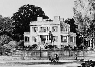 Hamilton Grange National Memorial - Drawing of the original Grange before 1889.