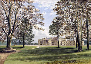 Duke of Hamilton - Hamilton Palace, the former family seat in Hamilton, circa 1880.