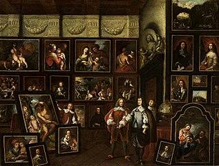 Interior of a gallery of paintings of the Libštejnský of Kolovrat family.