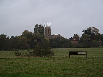 Hampton Lucy - Hampton Lucy from Charlecote Park, dominated by the St. Peter ad Vincula parish church