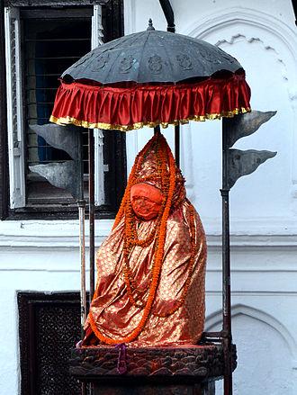 Kathmandu Durbar Square - Hanuman statue, Hanumandhoka at Basantapur Durbar Square, Kathmandu, Nepal