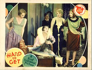 Hard to Get (1929 film) - Lobby card
