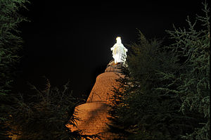 Our Lady of Lebanon - Shrine at night
