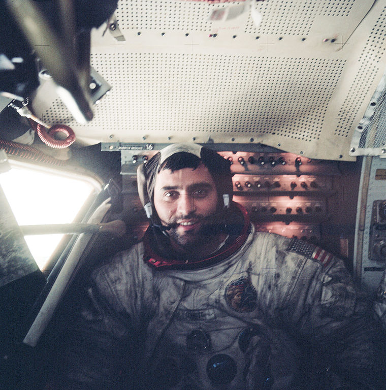 File:Harrison Schmitt inside LM on surface, Apollo 17.jpg ...