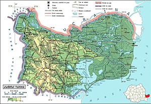 Tulcea County - Map of Tulcea County.