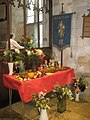 Harvest display within St Mary, Buriton - geograph.org.uk - 1532007.jpg