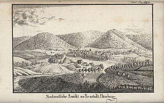 Harzburg - Northwestern view of Neustadt Harzburg, 1825