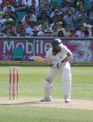 English: South African cricketer,Hashim Amla b...