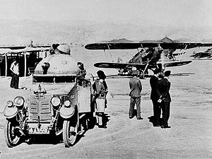 Waziristan campaign (1936–1939) - An RAF Hawker Hart and an Indian Army Crossley armoured car, c. late 1930s