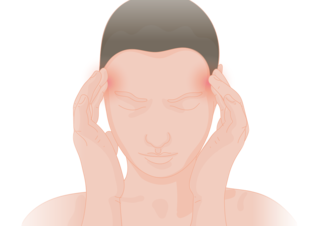 Headache pain in the head or neck