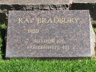 Westwood Village Memorial Park Cemetery - Headstone of Ray Bradbury, May 2012, prior to his death