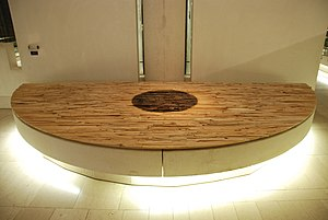 National Museums Scotland - Hearth by Andy Goldsworthy, commissioned for the Early Scottish Peoples exhibit under the management former NMS Keeper of Archaeology, Dr David Clarke.