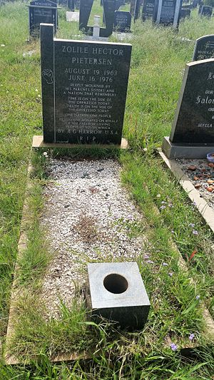 Hector Pieterson - The grave of Hector Pieterson at Avalon Cemetery, Soweto
