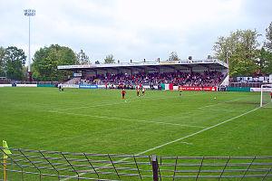 Heidewaldstadion - Image: Heidewaldstadion tribuene