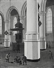 Inneres der Oude Kerk in Delft