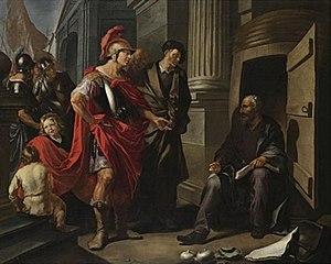Hendrik Heerschop - Diogenes and Alexander, 1661