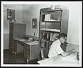 Henry Earle Lumpkin in office at Exxon Research and Engineering Company laboratory 1969.jpg
