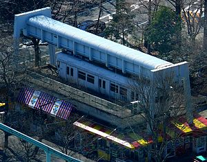 SAFEGE - The preserved car and track of the Higashiyama Zoo Monorail in 2008