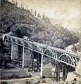 High Bridge at Mainville PA - Catawissa RR 1860s.png