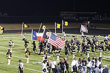 Highland Park vs. Royse City football 2017 02 (Royse City entrance).jpg