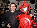 Hilmar Jess, Künstler und Kursleiter der KATT, der Kunst- und Kulturwerkstatt e.V. im Kulturzentrum Faust, Hannover, mit seinem Cyborg Clone Hilmar.jpg