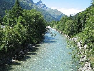 Der Hinterrhein in Splügen
