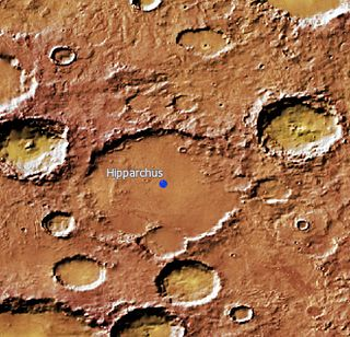 Hipparchus (Martian crater) crater on Mars