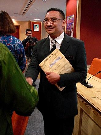 Malay College Kuala Kangsar - Image: Hishammuddin Hussein