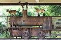 Historic locomotive hosting goats in Don Khon, Si Phan Don, Laos.jpg
