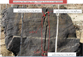 Historical Hatoon Royal inscriptions (in Brahmi) 6th Century-near to destroy.png