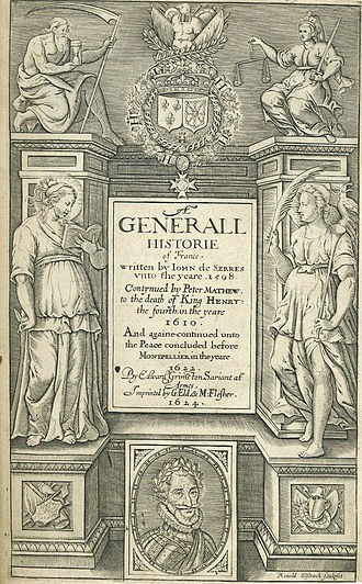 George Eld - Titlepage of Edward Grimeston's A Generall Historie of France, 1624.