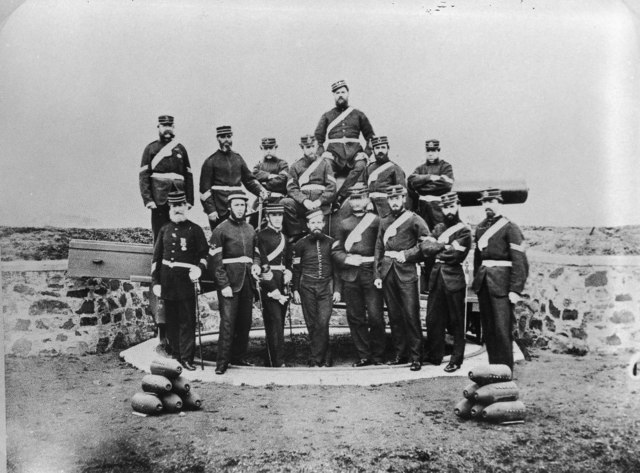 Hobart Town Volunteer Artillery members 1869