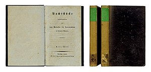 The Sandman (short story) - 1817 short story collection Die Nachtstücke (The Night Pieces), Berlin.