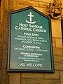 Holy Saviour Catholic Church, Nelson, Sign - geograph.org.uk - 1068658.jpg