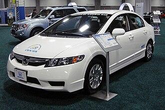 Honda Civic GX - Image: Honda Civic GX NGV WAS 2010 8944