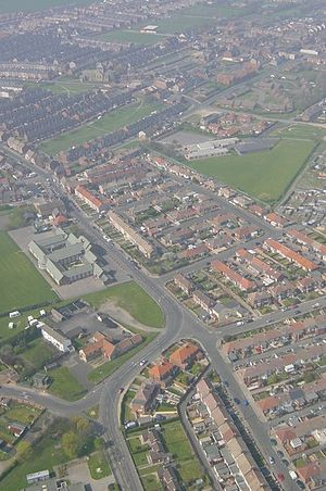 Horden - View of Horden from 800 feet above sea level.