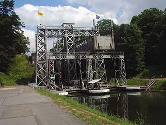 La Louvière - Boat lift on the old Canal du Centre
