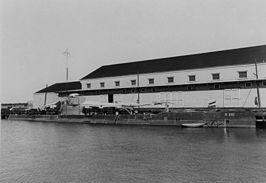 Hr. Ms. K XIII in de haven van Honolulu. 20 September 1926