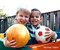Human eyesight two children and ball normal vision color.jpg
