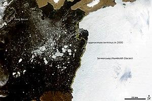 Humboldt Glacier - satellite image of Humboldt Glacier