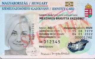 Hungarian identity card