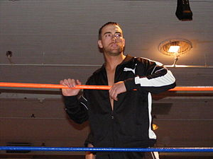 RJ Brewer - Walters in the ring in 2009.